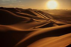 Photographic Print: Sunset in Sahara Desert by Anna Gibiskys : Landscape Photos, Landscape Photography, Nature Photography, Travel Photography, Image Beautiful, Beautiful World, Beautiful Places, Places To Travel, Places To Visit
