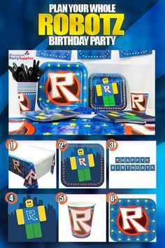 Shop our exclusive line of Roblox Party Supplies. Find tableware, party favors and decorations to help you throw the perfect Roblox party today! Happy Birthday Banners, It's Your Birthday, Birthday Decorations, Boy Birthday, Easy Birthday Party Games, Birthday Parties, Birthday Ideas, Kids Party Themes, Party Ideas