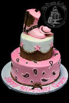 pink western cake