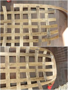 Learn how to make a tobacco basket with hardware store supplies
