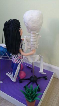 Esqueleto en goma eva