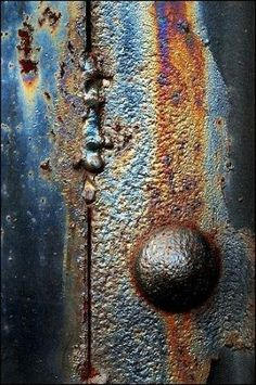 Rust | さび | Rouille | ржавчина | Ruggine | Herrumbre | Chip | Decay | Metal | Corrosion | Tarnish | Texture | Colors | Contrast | Patina | Decay | Don Taylor by ernestine