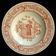 Aesthetic Movement Plate ~ Mother Hubbard Badminton 1885