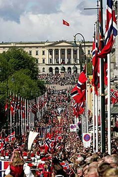 Norway flags on Constitution Day