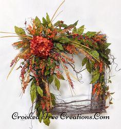 Square Hydrangea Berry Wreath