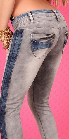 Nieuwe stretch jeans met 2 kleuren mt. 38/40 (20160142)*   * Final Sale *   Shopfreak
