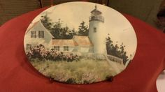 Vintage Lighthouse Plaque by Bee Kay Crations by 3OaksTreasure on Etsy