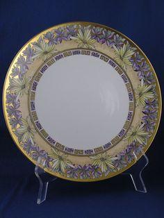 Tressemann & Vogt (T&V) Limoges Arts & Crafts Floral Enameled Design Charger/Plate (c.1892-1907)