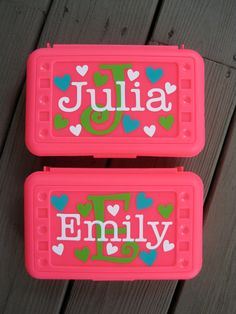 BACK TO SCHOOL-Personalized Pencil Box/ Art Supply holder                                                                                                                                                      More