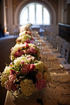 repitition on the bridal table