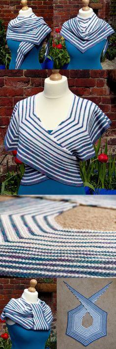 Pacific Rim Crochet Shawl - free pattern from Make My Day Creative