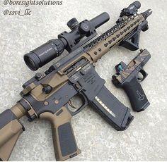 AR15 and Glock 19