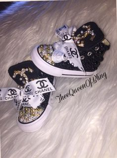 A personal favorite from my Etsy shop https://www.etsy.com/listing/264689663/designer-inspired-toddler-pearl-converse