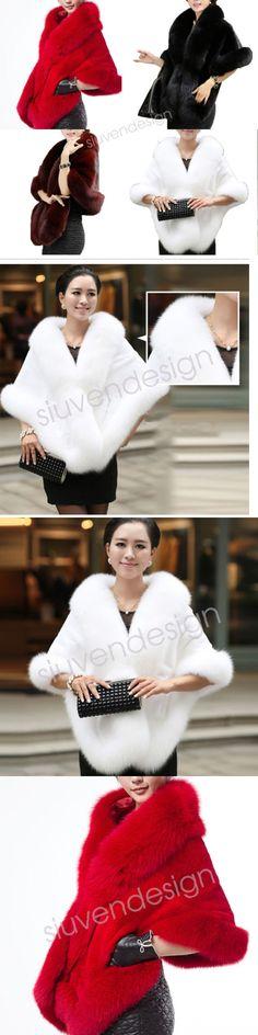 Wraps and Jackets 105472: Luxury Women S Slim Faux Mink Fur Coat Warm Long Shawl Stole Wrap Shrug Scarf -> BUY IT NOW ONLY: $33.29 on eBay!