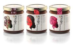marinade jar label with African inspired artwork | Kitchen of Africa