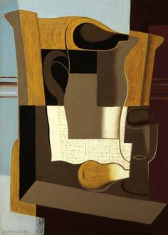 Juan Gris (Spanish, Le Broc [Pitcher], September Oil on canvas, 46 x 33 cm. Henri Matisse, Cubist Art, Abstract Art, Vincent Van Gogh, Claude Monet, Synthetic Cubism, Modern Art, Contemporary Art, Francis Picabia