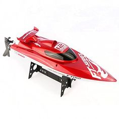 66.98$  Watch now - http://ali4eq.worldwells.pw/go.php?t=32454681775 - F15277 FT012 2.4G Remote Control High Speed FT009 Upgraded Brushless RC Boat Racing Boat with 11.1V 1800mAh Battery Red