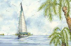 Tranquility by Gene Rizzo Giclee Prints ~ 11x15 12x16 15x22 16x24 22x30 24x32 32x44 36x48 x x