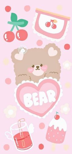 Cute Pastel Wallpaper, Soft Wallpaper, Bear Wallpaper, Cute Patterns Wallpaper, Cute Anime Wallpaper, Wallpaper Iphone Cute, Aesthetic Iphone Wallpaper, Cute Wallpapers For Ipad, Cute Cartoon Wallpapers
