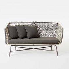 Outdoor Huron Sofa – Gray/Seal | West Elm