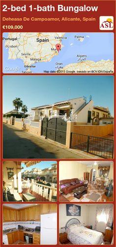 2-bed 1-bath Bungalow in Deheasa De Campoamor, Alicante, Spain ►€109,000 #PropertyForSaleInSpain