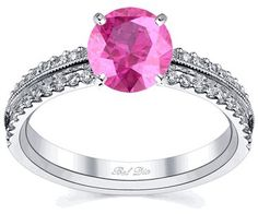 #deBebians                #ring                     #Pink #Sapphire #Pave #Engagement #Ring             Pink Sapphire Pave Engagement Ring                                            http://www.seapai.com/product.aspx?PID=152852