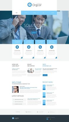 Discover the best 20 business WordPress themes you should choose from when starting your business. These business WordPress themes are well built and clean. Create Wordpress Website, Wordpress Website Design, Wordpress Theme Design, Site Vitrine, Web Layout, Layout Design, Website Design Inspiration, Page Design, Blog Design