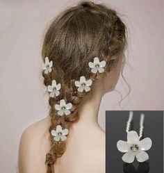 Sexy Bridal Head Pieces Bridal Acrylic Flower U Pins Bridal Hair Pins Bridal Hair Flowers Wedding Accessories From Janet521, $0.41 | Dhgate.Com