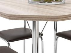 Conjunto de Mesa Aço Cromado com 4 Cadeiras - Móveis Carraro Soneto com as melhores condições você encontra no Magazine Ailtonalmeida. Confira!