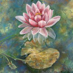 "B.Lily, 2013 Acrylic with spray acrylic on canvas, 30"" x 30"" ©2013NanciHersh SOLD"