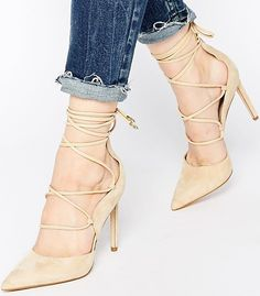 Sam Edelman Dayna Nude Ghillie Heeled Pumps