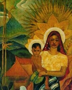 "This is a depiction of a Filipino ""Madonna and Child"". Whilst the clothing is a bit off the complexion and facial features that the artist has used I think matches that of someone from Jesus & Mary's period and geography almost perfectly. http://ift.tt/1KAavV3"