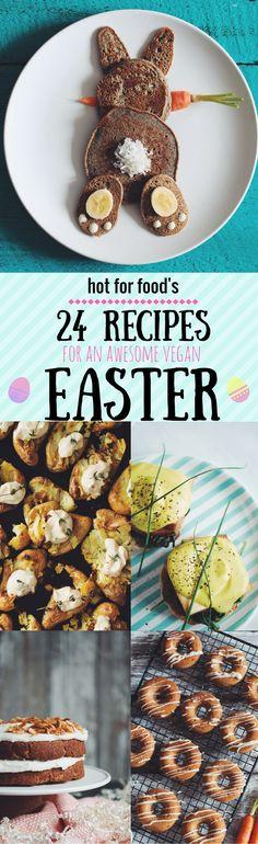24 recipes for an awesome vegan Easter | hotforfoodblog.com