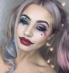 Clown makeup look〰〰〰➰ Never catch me with this look unless I plan to work at a CIRCUS!!! LOL