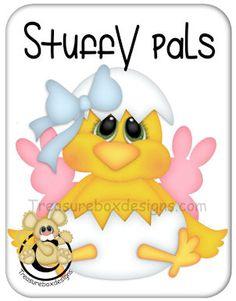 Stuffy Pals Chick  - Treasure Box Designs Patterns & Cutting Files (SVG,WPC,GSD,DXF,AI,JPEG)