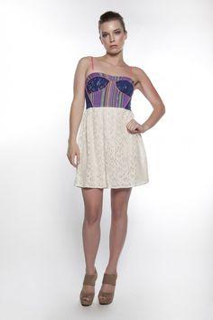 Lace & Stripes Dress