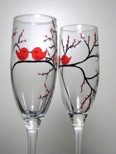 DIT hand painted glass