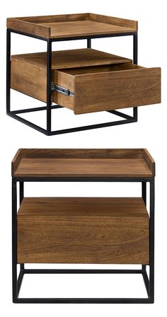 Intelligently designed, this Juneau Side Table will allow you to easily store your sofa or bedside essentials in an orderly manner. This contemporary unit is made with handsomely finished solid acacia ...  Find the Juneau Side Table, as seen in the Fresh Industrial Style Collection at http://dotandbo.com/collections/fresh-industrial-style?utm_source=pinterest&utm_medium=organic&db_sku=118100