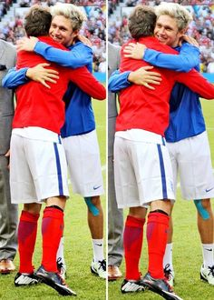 Louis and Niall for SoccerAid.