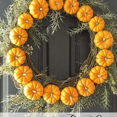 Circle of Pumpkins Wreath
