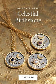 Moon Jewelry, Cute Jewelry, Jewelry Box, Jewelery, Jewelry Making, Fall Accessories, Jewelry Accessories, Jewelry Design, Birthstone Necklace