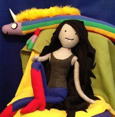 Inspired by  Marceline the Vampire Queen from Adventure Time  - giant sized plush.
