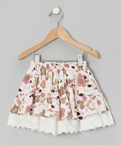http://www.zulily.com/invite/vhanson979 Take a look at this Pink Daisy Eyelet Corduroy Skirt - Toddler & Girls by Petit Confection on #zulily today!