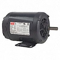 3/4 HP General Purpose Motor,3-Phase,1725 Nameplate RPM,Voltage 208-230/460,Frame 56