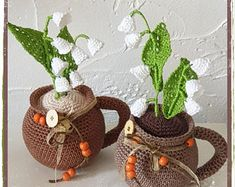 Crochet Pattern Patron Tutorial Amigurumi French and Mimosas, Modeling Clay Recipe, Crochet Birds, About Me Questions, Lily Of The Valley, Amigurumi Doll, Embroidery Thread, Etsy, Finding Yourself