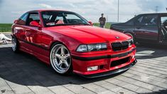 Custom Bmw, Custom Cars, Bmw Red, E36 Coupe, Ac Schnitzer, Vossen Wheels, Bmw Cars, Super Cars, Motorcycles