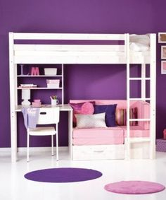 My daughter wants a loft bed soooo bad  of course, w/ purple http://media-cache0.pinterest.com/upload/281404676686530072_zbcZYDsg_f.jpg cherieesq homey