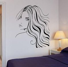 [Visit to Buy] Sexy Girl Beautiful Hair Barber Wall Mural For Room Decora Decal Sexy Salon Woman Face Art Wall Sticker Vinyl Wall Stickers, Vinyl Wall Decals, Marilyn Monroe Painting, Hair Barber, Hair And Beauty Salon, Mural Wall Art, Stencil Painting, Face Art, At Least