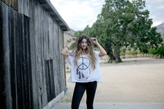 ROYAL RABBIT Peace Out flowy tee