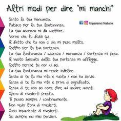 Italian Grammar, Italian Vocabulary, Italian Phrases, Italian Words, Italian Quotes, Italian Language, Vocabulary Games, Grammar And Vocabulary, Italian Courses